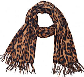 Sjaal soft leopard