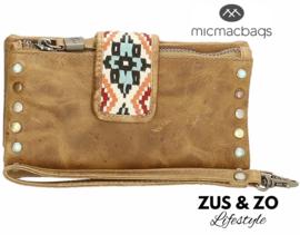 Wallet - clutch 'New Navajo' sand-bruin