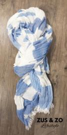 Sjaal 'Bleu stripe'