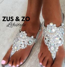 Sandaaltjes 'Shine' zilver