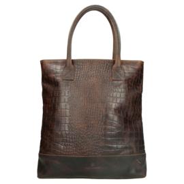 Tas / shopper 'Everglades' donkertaupe - bruin