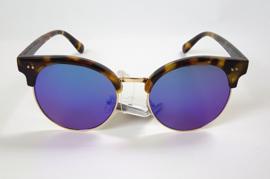 Zonnebril clubmaster 'Leopard bleu'