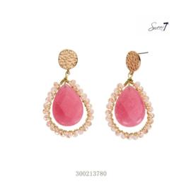 Oorbellen 'Sweet' pink