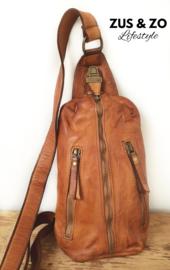 Crossbody bag - heup tas 'Vintage' cognac