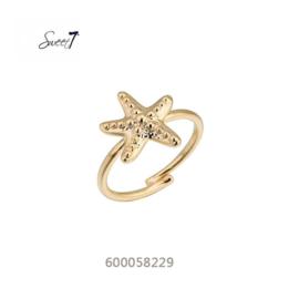 Ringetje 'Zeester' goud