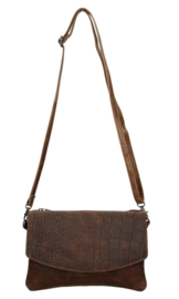 Micmacbags 'Everglades' clutch - tas donkerbruin