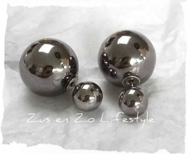 Double Pearls Shiny Dark Grey