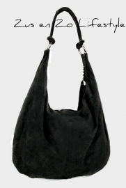 Casual bag suède zwart