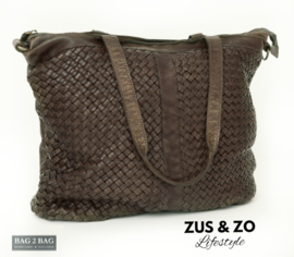 Bag2Bag tas 'Milano' Olive - Brown