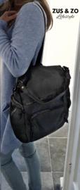 Rugtas - schoudertas 'Bellano' zwart