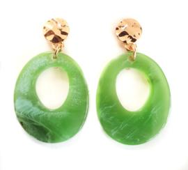 Oorbellen 'Sweet' green