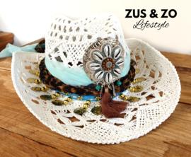 Ibiza hoed 'Silver Shells'