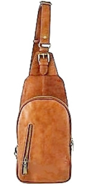 Crossbody bag 'Carry' cognac