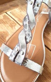 Sandaaltje 'Twist' silver