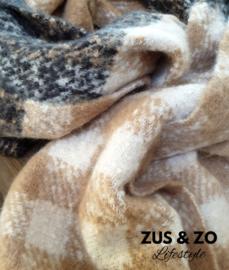 Warme sjaal 'Caramel seasalt'