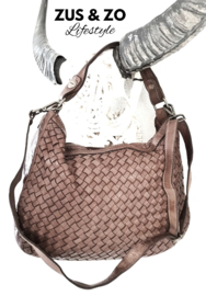 Tas 'Beauty vlecht' taupe