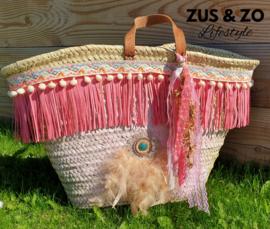 Strandtas Ibiza 'Beachie Pink'