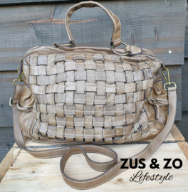 Grote tas 'Casual Used' taupe