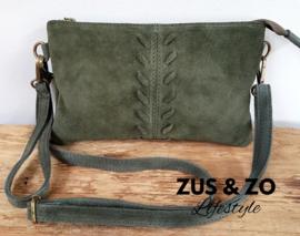 Tasje / clutch 'Valencia' green