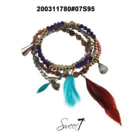 Setje armbandjes 'Lavender'