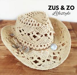 Ibizahoed 'Eivissa' natural beige