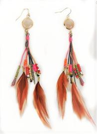Oorbellen 'Ibiza feathers'