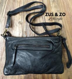 Gevlochten clutch - tas 'Merano' zwart