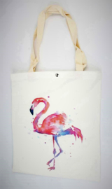 Shopper 'Pink Ibiza flamingo'