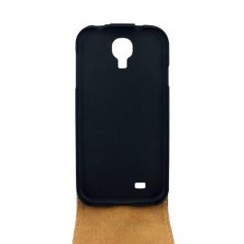 Flipcover zwart lak croco Samsung S4