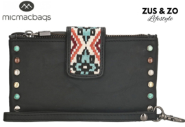 Wallet - clutch 'New Navajo' zwart