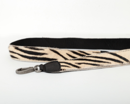 Lange schouderband Bag2Bag zwart zebra