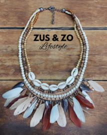 Ketting 'Shells and Feathers'