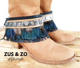 Bootbelts 'Black Feathers'