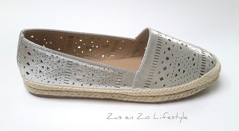 Espadrilles 'Silver crochet'