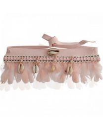 Upper armband 'Ibiza feathers' pink