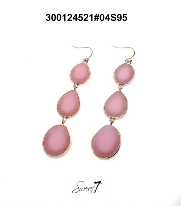 Oorbellen 'Pink stones'