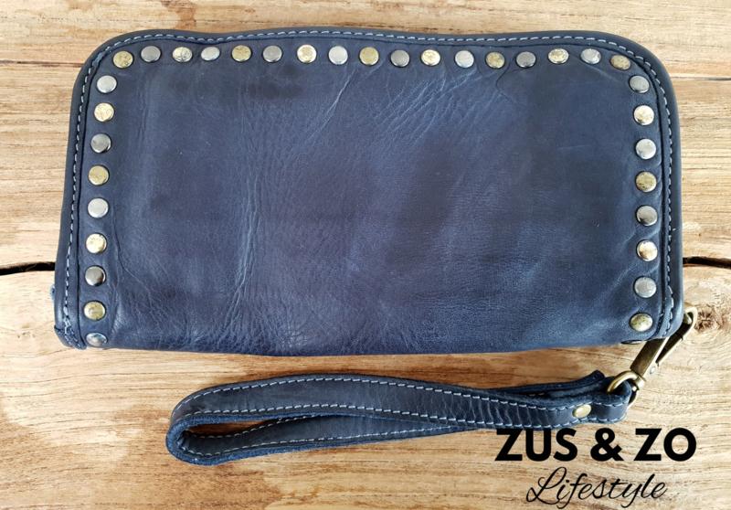 Clutch - portemonnee 'Stoer' donkerblauw