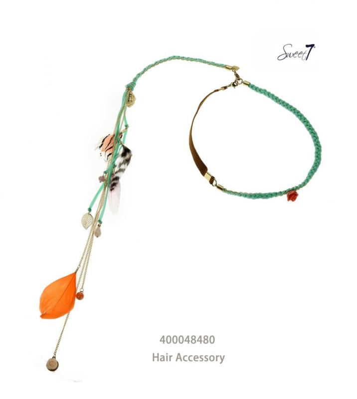 Haarbandje ' Ibiza green'