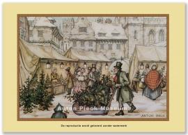 Slede op kerstmarkt