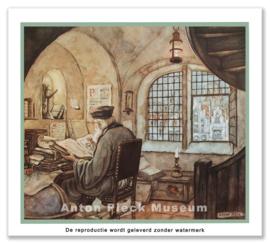 Monnik leest (grootformaat)