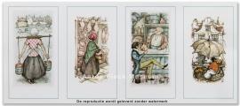 Melkmeisje, Poelierwinkel, Borrelaar, Sinasappel- vrouwtje