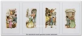 Poppenkast, Wafelmeisje, Postkoets, Echtpaar