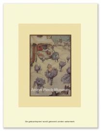 Baby in koolstronk in de sneeuw