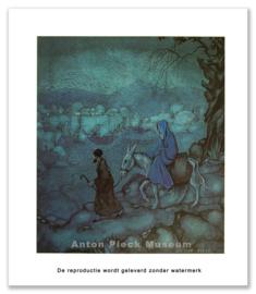 Jozef en Maria naar Bethlehem (grootformaat)