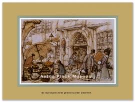 Markt met oud vrouwtje