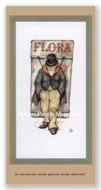 """Sandwichman met bord """"Flora"""""""
