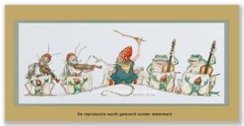 Kikker en sprinkhaan orkest