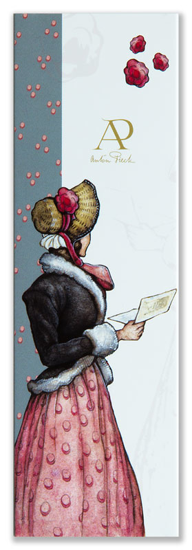 Boekenlegger Anton Pieck in detail, Vrouw