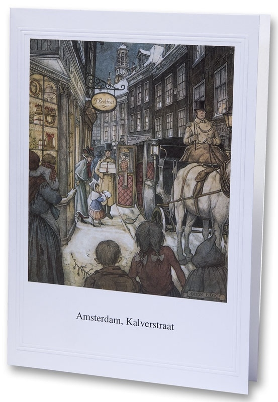 Amsterdam Kalverstraat (Unieke Amsterdam collectie) (kerstkaart)
