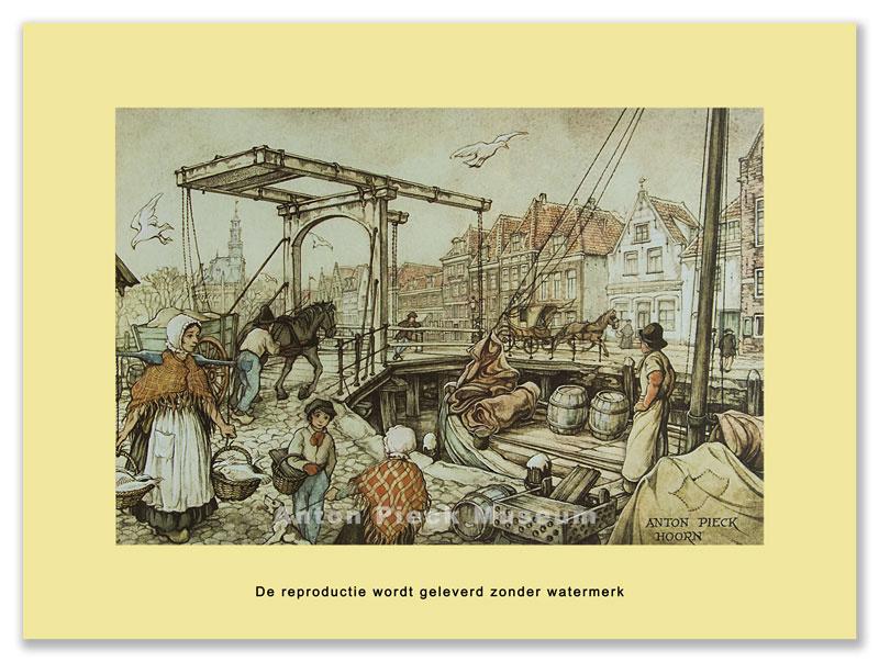 Hoorn, Ophaalbrug Veermanskade (grootformaat)